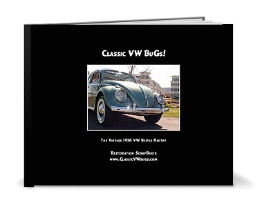 VW Leather Photo Book to go with your restored bug